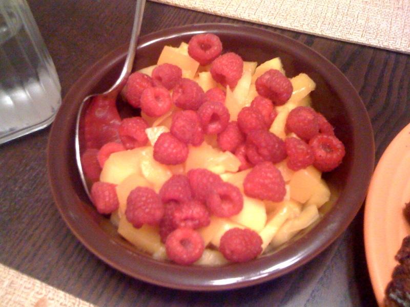 Raspberries, Mangoes