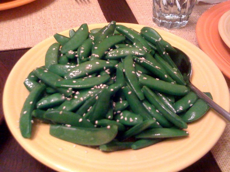 Sugar Snap Peas with Sesame Oil