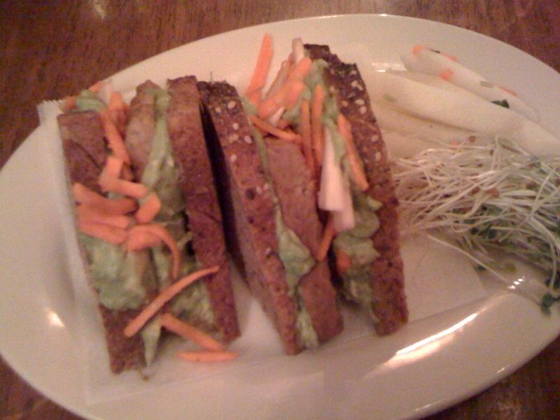 Peacefood Cafe - Tempeh Avocado Sandwich
