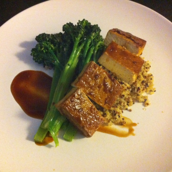 Baked Tofu with Broccolini & Quinoa