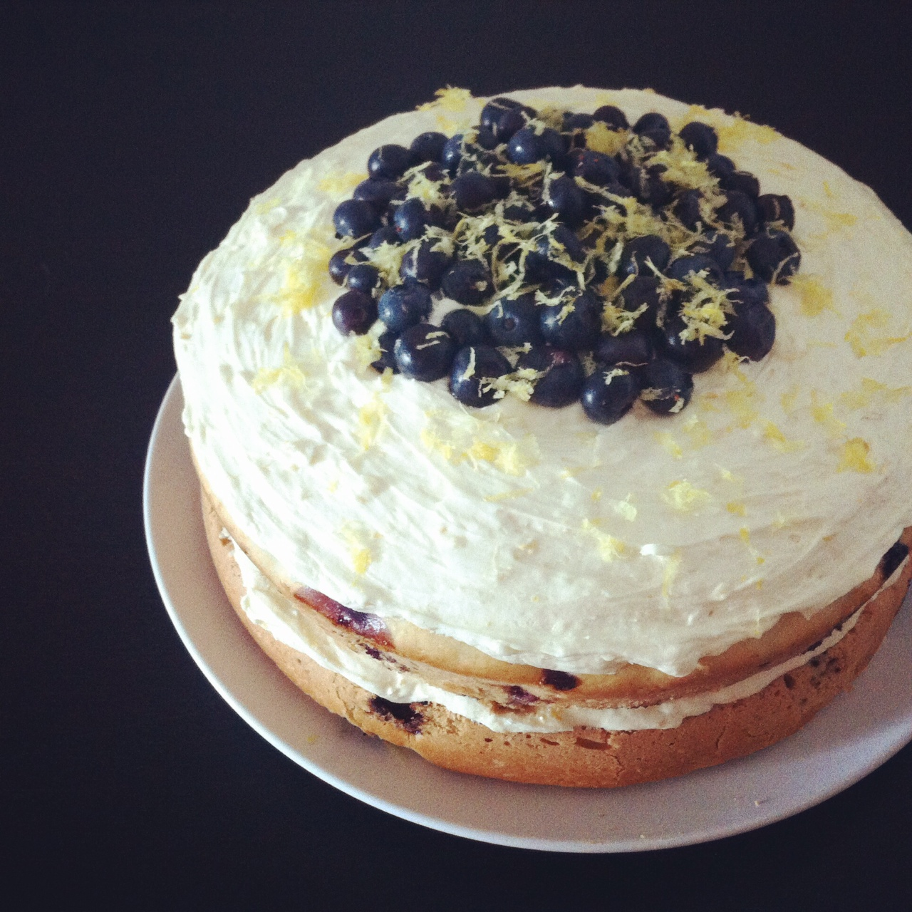 Vegan Lemon Blueberry Layer Cake By Waz Wu