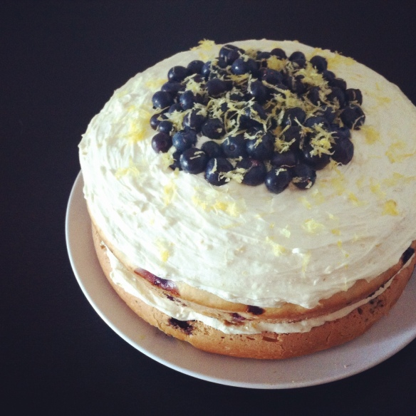 Vegan Blueberry Lemon Cake