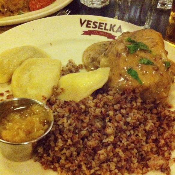 Deluxe Vegetarian Combo Plate, Veselka, East Village