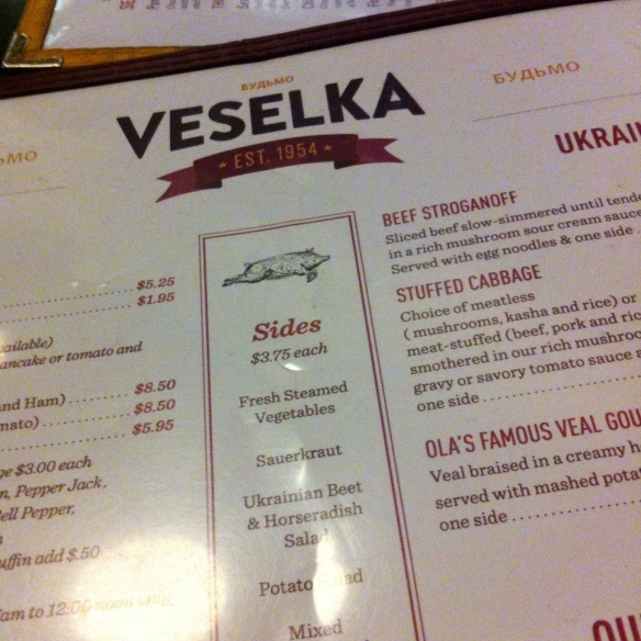 Veselka, East Village, NYC