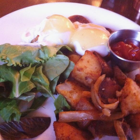 Eggs Benedict, The Brass Rail, Hoboken