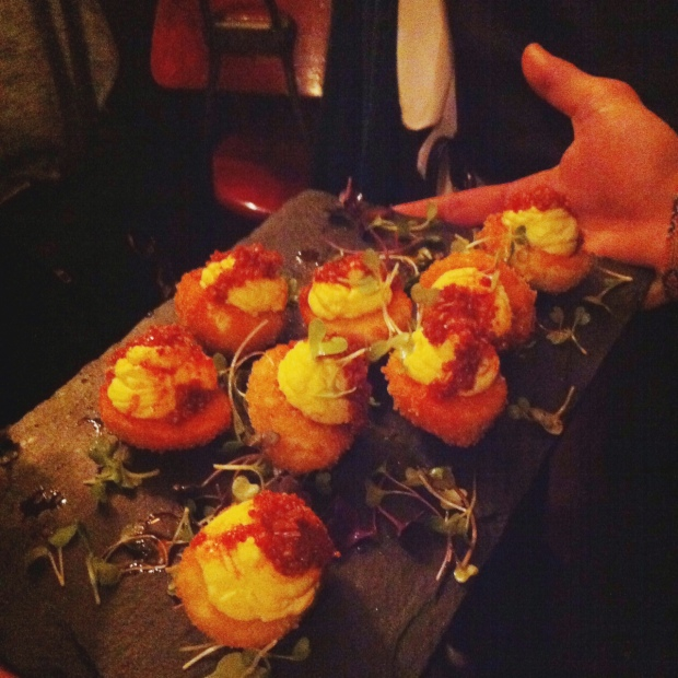 Deep Fried Deviled Eggs, Tuome, East Village