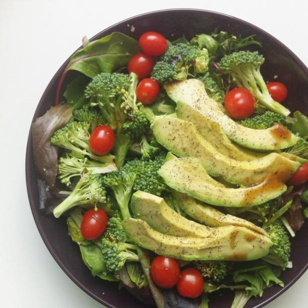 Spring Greens Salad, Broccoli, Avocado, Cherry Tomatoes
