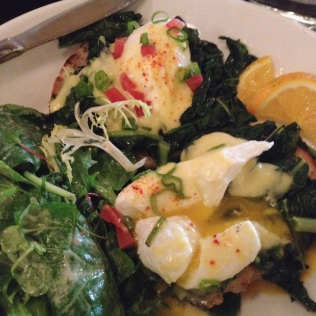 Eggs Florentine, Almond, Flatiron