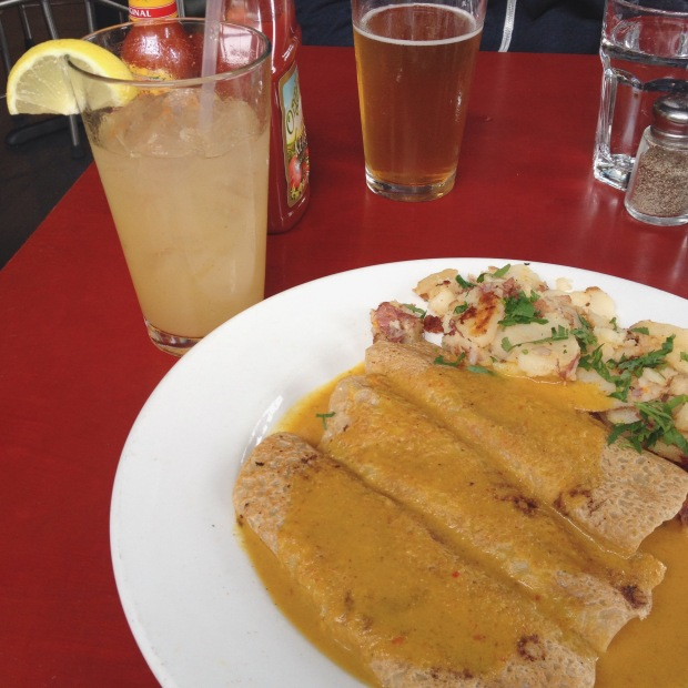 Savory Crepes with Curry, Herbivore