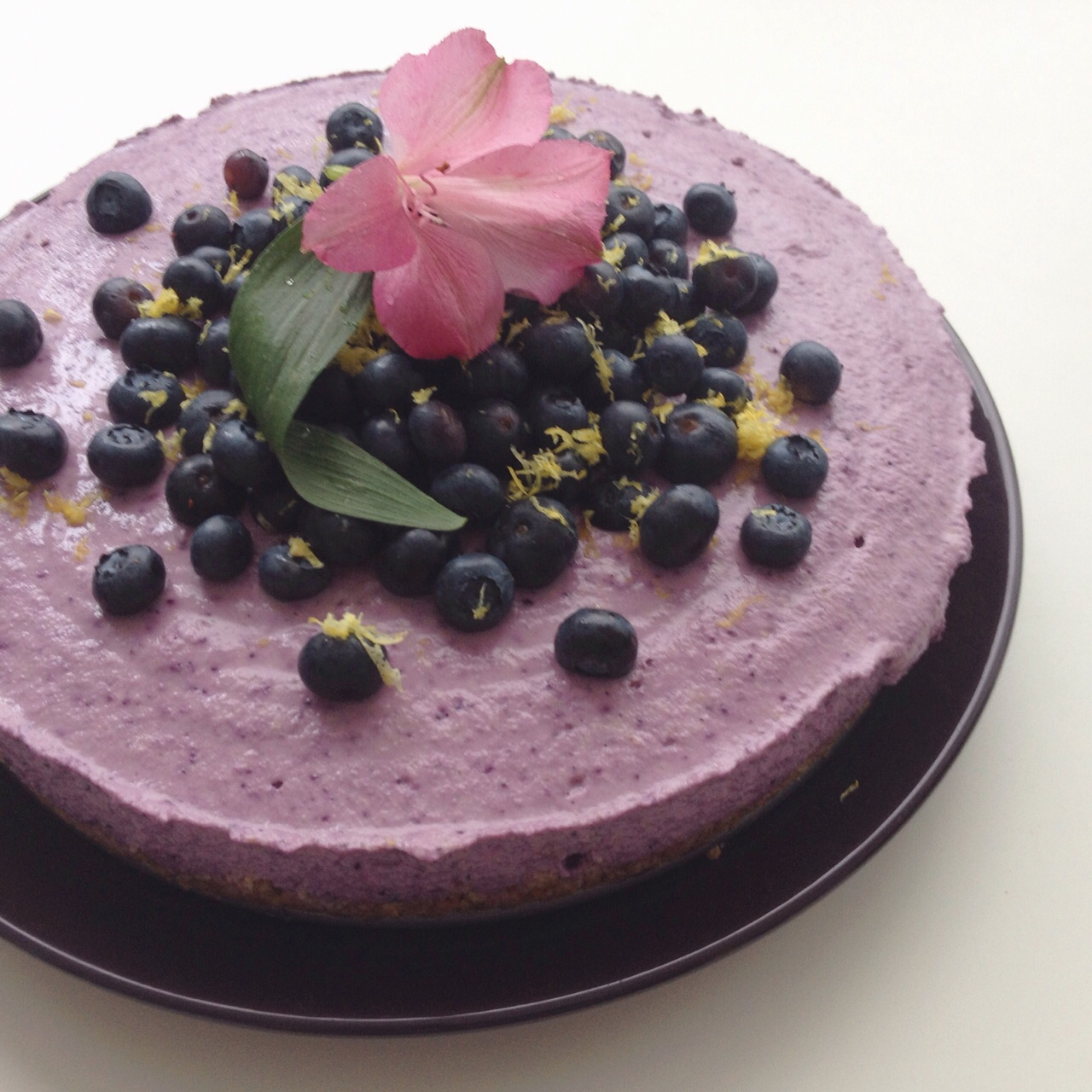 "No Bake Blueberry ""Cheesecake"" – Let's Nom Nom!"