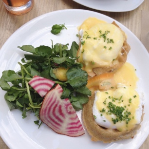Waffle Benedict, Root and Bone