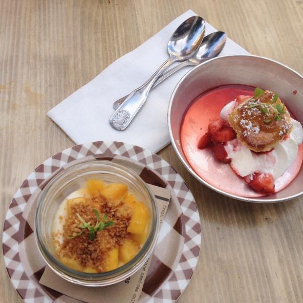Strawberry Shortcake, Peaches and Cream, Root and Bone