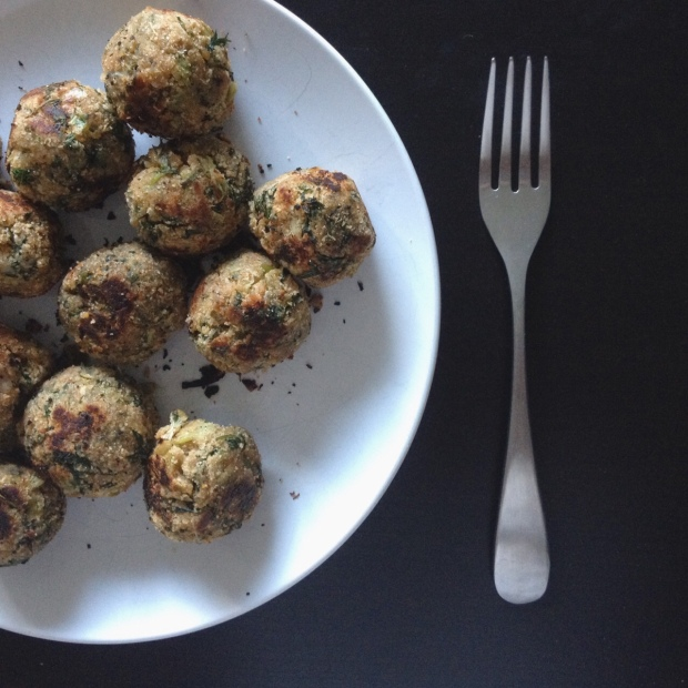 Carrot Greens & Scallions Meatballs