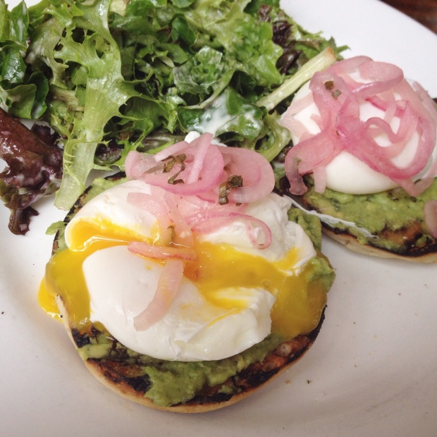 Avocado Toast, Poached Eggs, Hamilton Inn