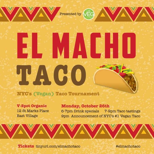 El Macho Taco - NYC Vegan Taco Tasting Event