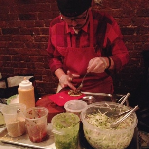 Vegicano Monk's Meat Vegan Taco