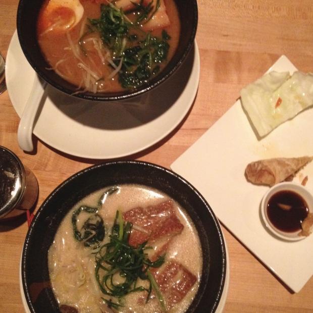Spicy Soboro Miso, Yasai Ramen, Ganso Ramen