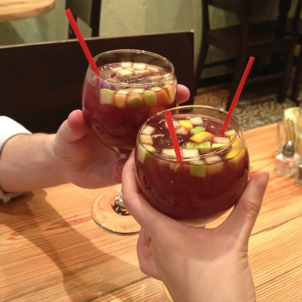 Sangria, Hummus Kitchen, Upper East Side