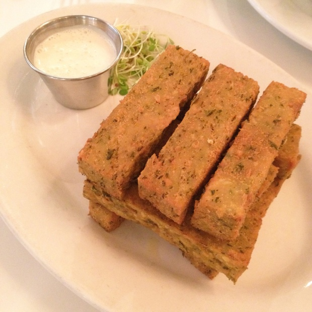 Chickpea Fries, Peacefood Cafe