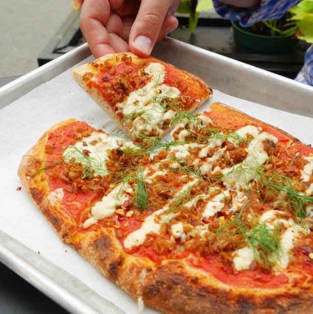 Farro Fennel Sausage Vegan Pizza, 00+Co