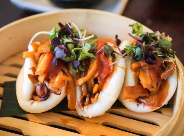 Kalau Jackfruit & Shiitake Mushroom Buns, Mother of Pearl, East Village