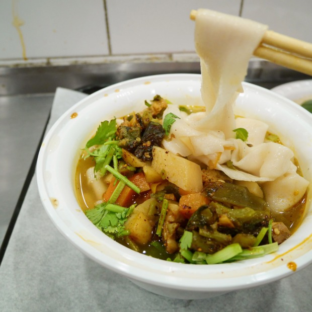 Mount Qi Vegetables Hand-Ripped Noodles Soup, Xi'an Famous Foods