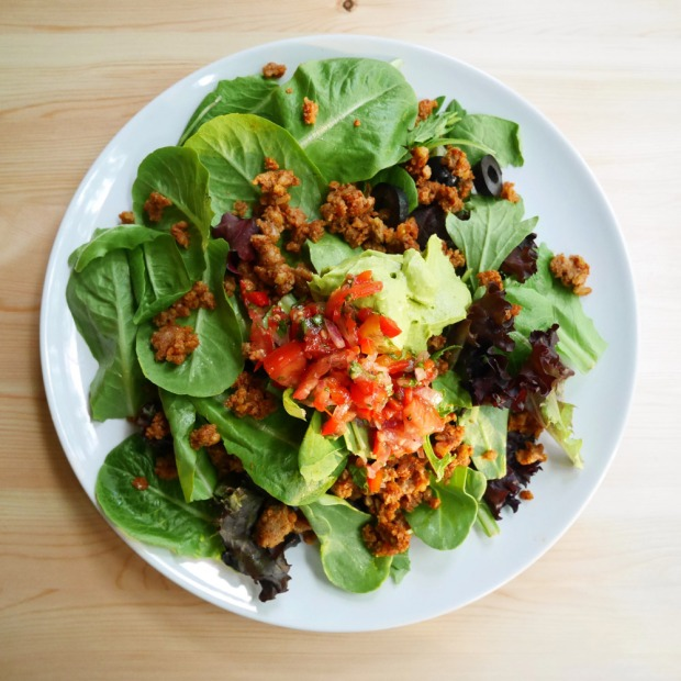 Raw Taco Salad, Forelle Raw Vegan Plant-Based Meal Delivery, Portland