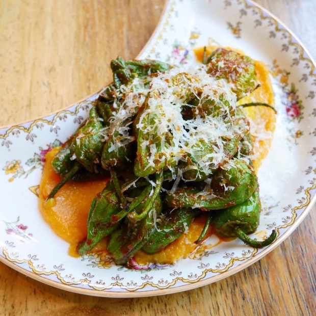 Blistered Padron Peppers, The Hairy Lobster