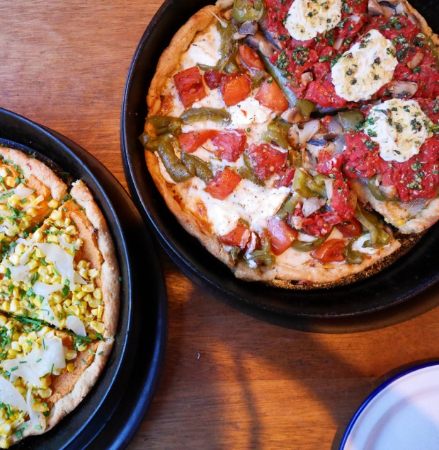 Dove Vivi Cornmeal Crust Pizza, NE Portland
