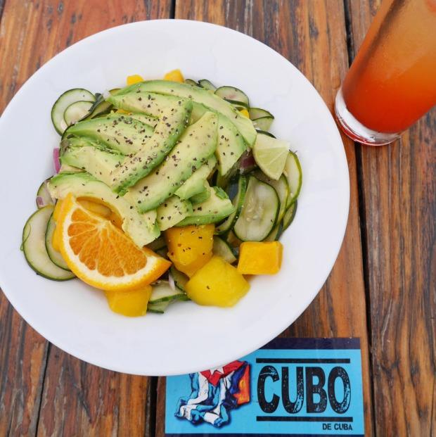 Vegan Caribbean Salad, El Cubo de Cuba