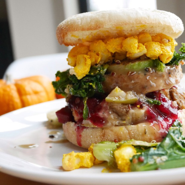 Vegan Thanksgiving Leftovers Breakfast Sandwich