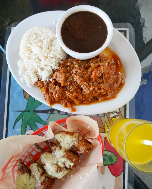 Ropa Vieja, Mojo Wings, Equelecua Cuban Cafe, Los Angeles